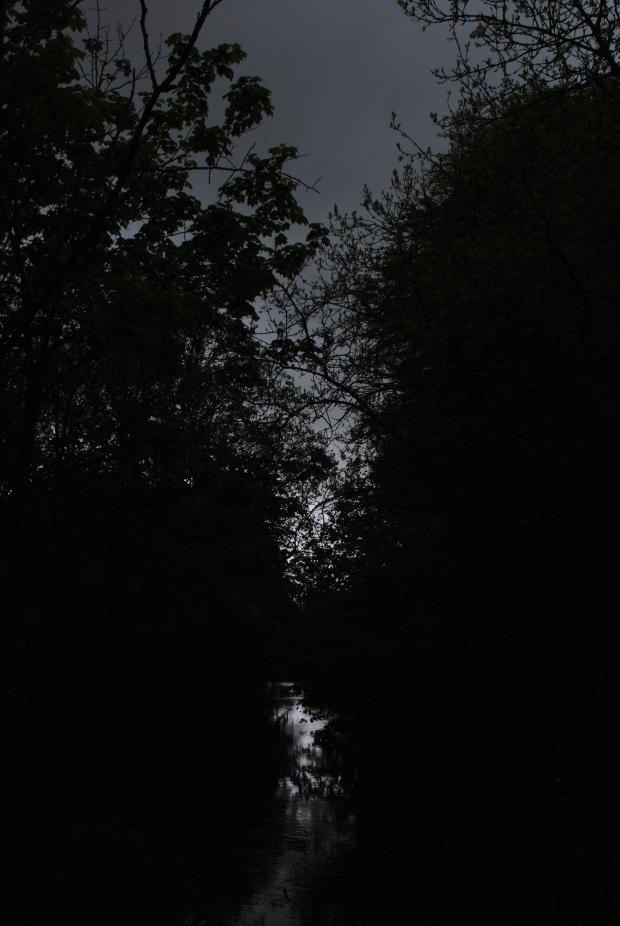 Across the night.