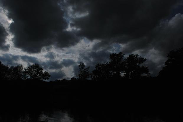 Feeding on light - leaving darkness, leaving holes.